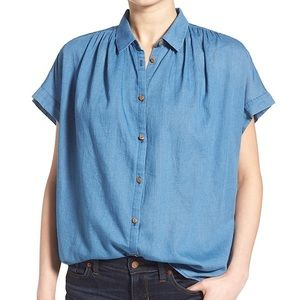 MADEWELL Central Button Front Shirt Oversized Top